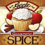 Cupcake Apple Cinnamon  Spice Art Print