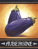 Market Sign Aubergine Art Print