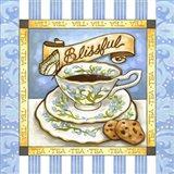 Tea Blissful Blue Teacup Art Print