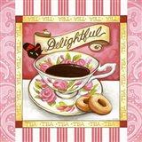 Tea Delightful Pink Teacup Art Print