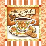 Tea Restful Orange Teacup Art Print