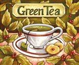 Tea Time Green Tea Art Print