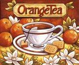 Tea Time Orange Tea Art Print
