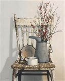 Watering Can On Chair Art Print