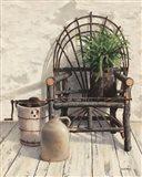 Wicker Chair With Ice Cream Churn Art Print