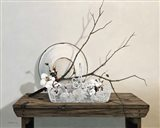 Wire Basket With Cotton Art Print