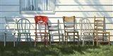 Row Of Chairs Art Print