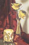 Candle Lit Roses Art Print