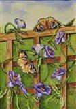 Monarchs & Hydrangeas Art Print