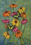 Monarchs & Sunflowers Art Print