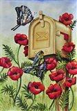 Blue Wing, Swallowtail & Poppies Art Print