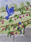 Indigo Bunting and Rainbow Bunting Art Print