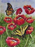 Monarch and Swallowtail Art Print