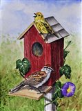 Chipping Sparrow and Yellow Warbler Art Print