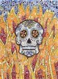 Burning Skull Art Print