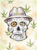 Buzzed Skull Art Print