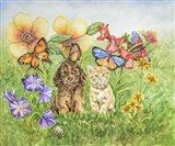 Bothersome Butterflies Art Print