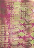 Texture - Pink Lime Art Print