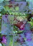 Texture - Green Blue Art Print