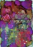 Texture - Purple Red Art Print