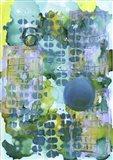 Texture - Blue Yellow Art Print