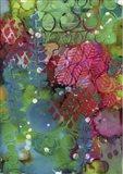 Texture - Green Red Art Print