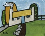 Cottage on a Slope Art Print