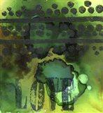 Texture - Love Green Art Print