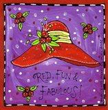 Red, Fun & Fabulous! Art Print