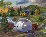 Campers Coming Home Art Print