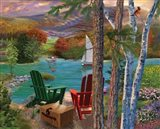 Lakeside View from the chairs Art Print