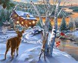 Buck River Art Print
