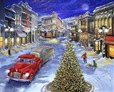 Main Street Christmas Art Print