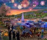 Summer Fireworks 2 Art Print
