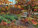 Harvest at the Cabin Art Print