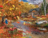 Autumn Cabin Art Print