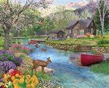 Spring Cabin Art Print