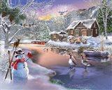Winter Cabin 2 Art Print