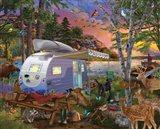 Camp Site Watch Dogs Art Print