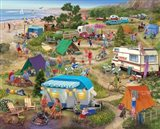 Seaside Cramped Grounds Art Print