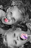 Lollipop Twins Art Print
