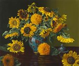 Sunflower Dance with the Fishies Art Print