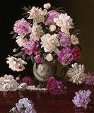 Peonies in a Japanese Vase Art Print