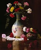 Carnations in a Victorian Vase Art Print