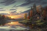 Lakeside Memories Art Print