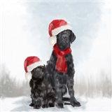 Christmas Dogs Art Print