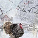 Christmas Turkey Art Print