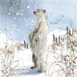 Standing Polar Bear Art Print