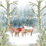Christmas Deer Group Art Print