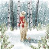 Snow Polar Bear Art Print
